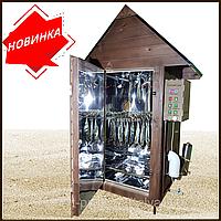 Коптильня 550л -холодного и горячего копчения, +просушка. Нержавейка внутри, крыша домиком