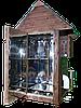 Коптильня 1300л -холодного и горячего копчения, +просушка. Нержавейка внутри, крыша домиком, фото 3