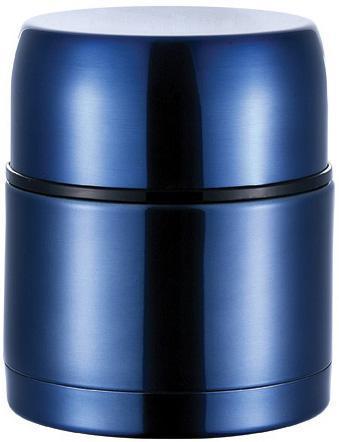 """Термос Bergner """"Ланч-бокс"""" 1200мл с клапаном давления, синий"""