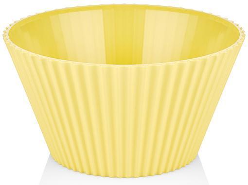 Салатник Bager пластиковый 4000мл, желтый