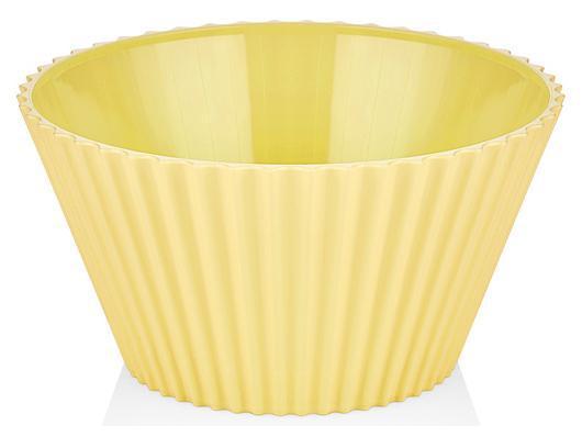 Салатник Bager пластиковый 2000мл, желтый
