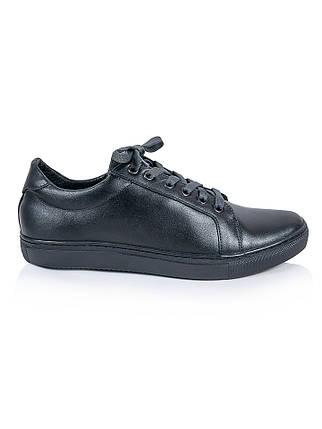 Мужские черные кожаные кеды 6242-28, фото 2