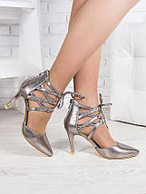 Босоножки - туфли Olimp серебро 6368-28 АКЦИЯ, фото 2