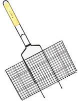 """Решітка для барбекю Kamille """"Скаут"""" з антипригарним покриттям 46х25.5х2см"""