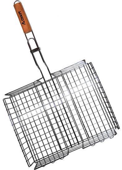 """Решетка для барбекю Kamille """"Скаут"""" глубокая 38х28х6см"""