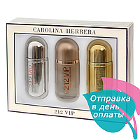 Подарочный набор Carolina Herrera 212 VIP, 3*30 ml, фото 1