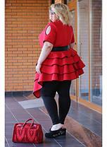 Женская блуза Royal цвет красный / размер 48-72, фото 3