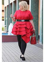 Женская блуза Royal цвет красный / размер 48-72, фото 2