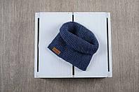 Вязаный снуд-манишка MagBaby, Украина, вязаное полотно, Синяя