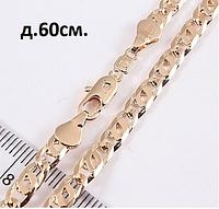 Цепочка длина 60 см ширина 4 мм, медзолото, медицинское золото