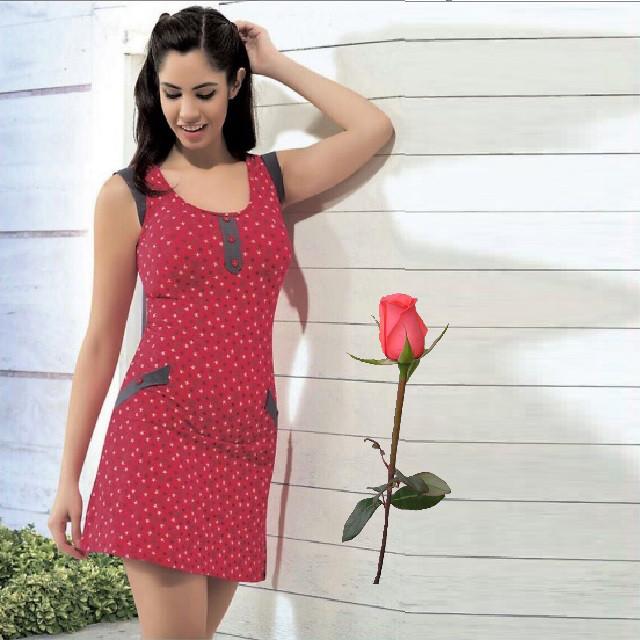 Трикотажное платье  Т 44415