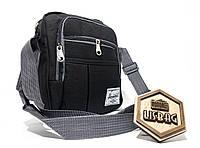 Мужская спортивная сумка мессенджер-планшетка-барсетка Черного цвета