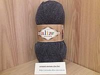 Зимняя пряжа (15%-шерсть, 30%-альпака, 55%-акрил,100 г/250 м) Alize Alpaca Royal 203(джинс меланж)