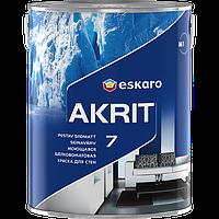 Краска Eskaro Akrit 7 моющаяся шелково-матовая, 9.5л.
