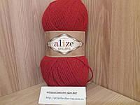 Зимняя пряжа (15%-шерсть, 30%-альпака, 55%-акрил,100 г/250 м) Alize Alpaca Royal 56(красный)
