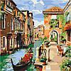 Картина по номерам без коробки 40 х 40 см Кафе в Венеции Идейка КНО2161