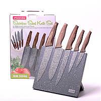 Набор ножей 6 предметов Kamille  на магнитной подставке 5046