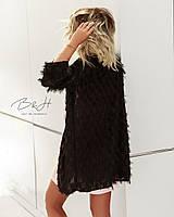Женский очень стильный кардиган ткань полиэстер цвет черный