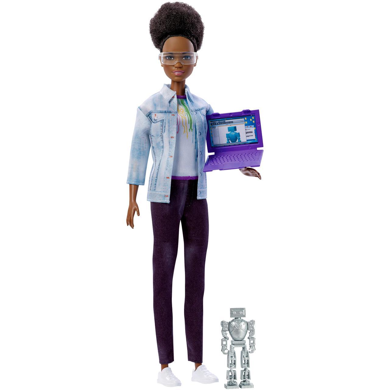 Барби инженер-робототехник Афроамериканка