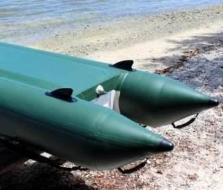 курсовой стабилизатор для лодки пвх (плавник) - установка