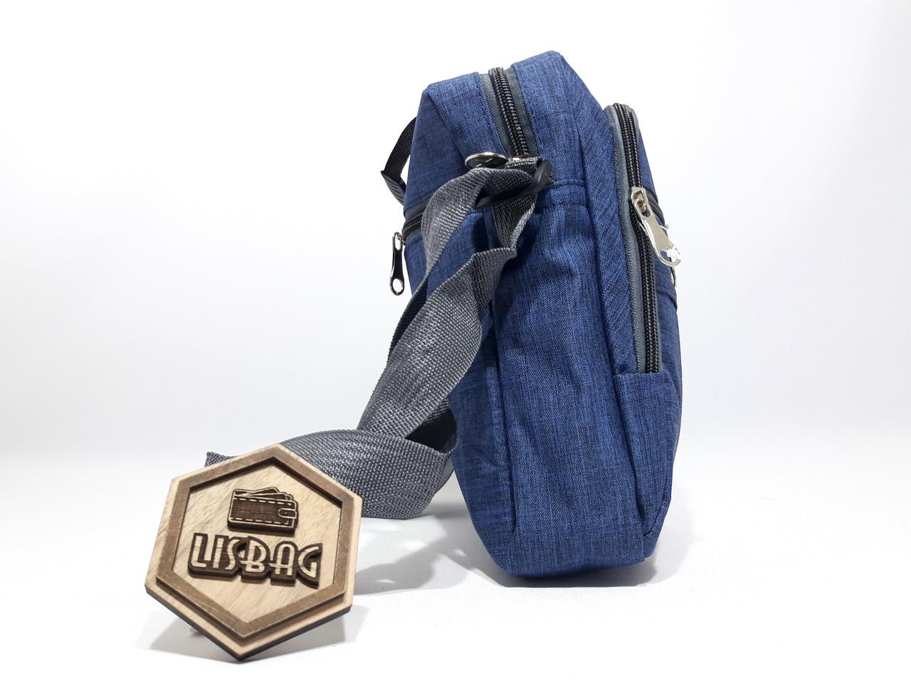 89b19d44bdf1 Чоловіча Синя сумка планшетка / барсетка середнього розміру спортивного  стилю, ...