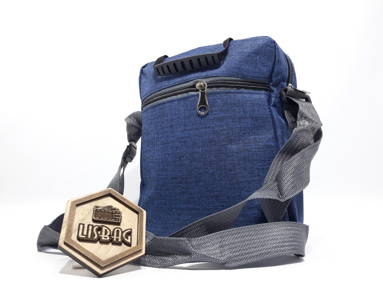 e27ffb921112 ... Чоловіча Синя сумка планшетка / барсетка середнього розміру спортивного  стилю, ...
