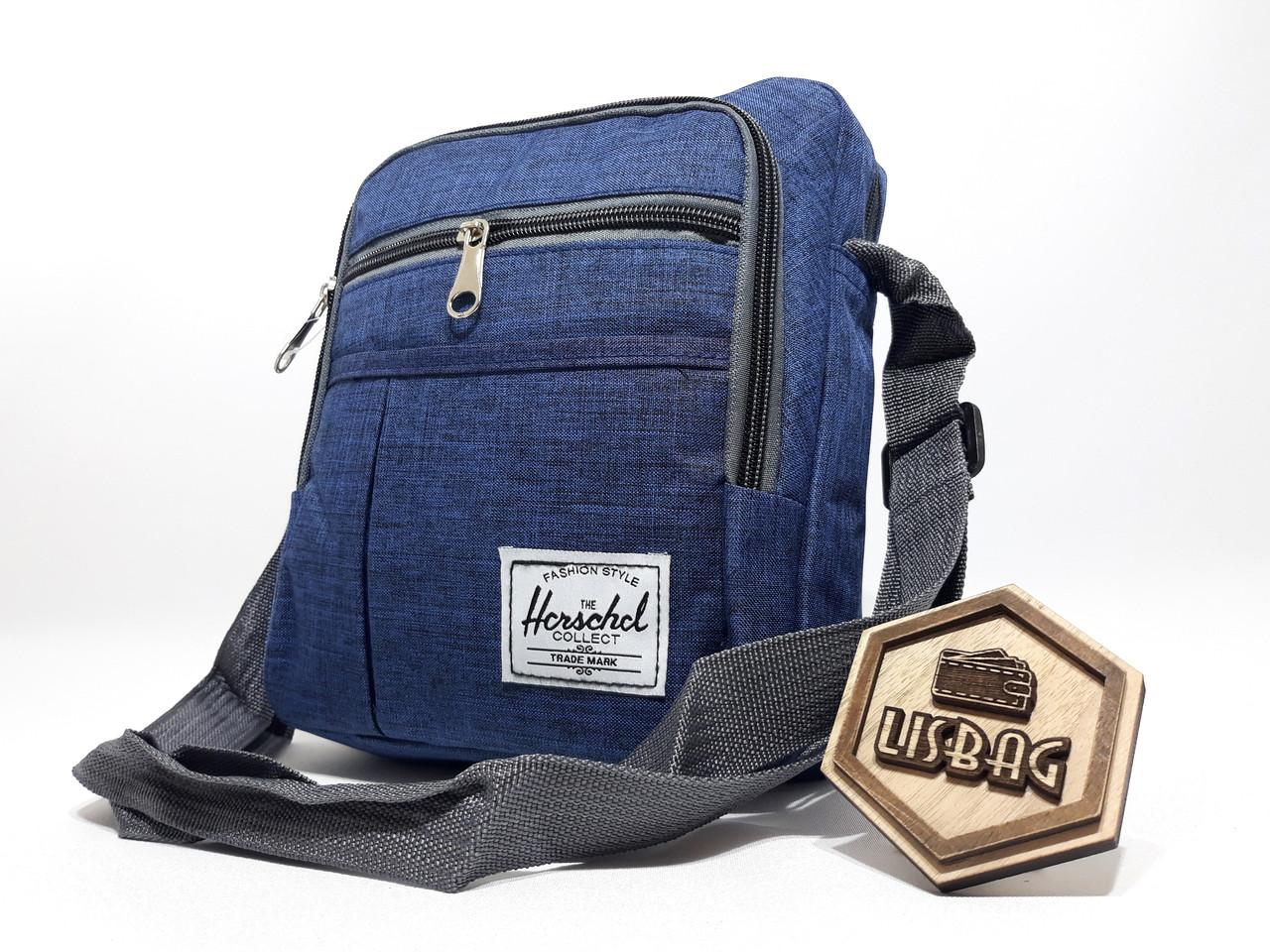b5ad077ff2a8 Чоловіча Синя сумка планшетка / барсетка середнього розміру спортивного  стилю