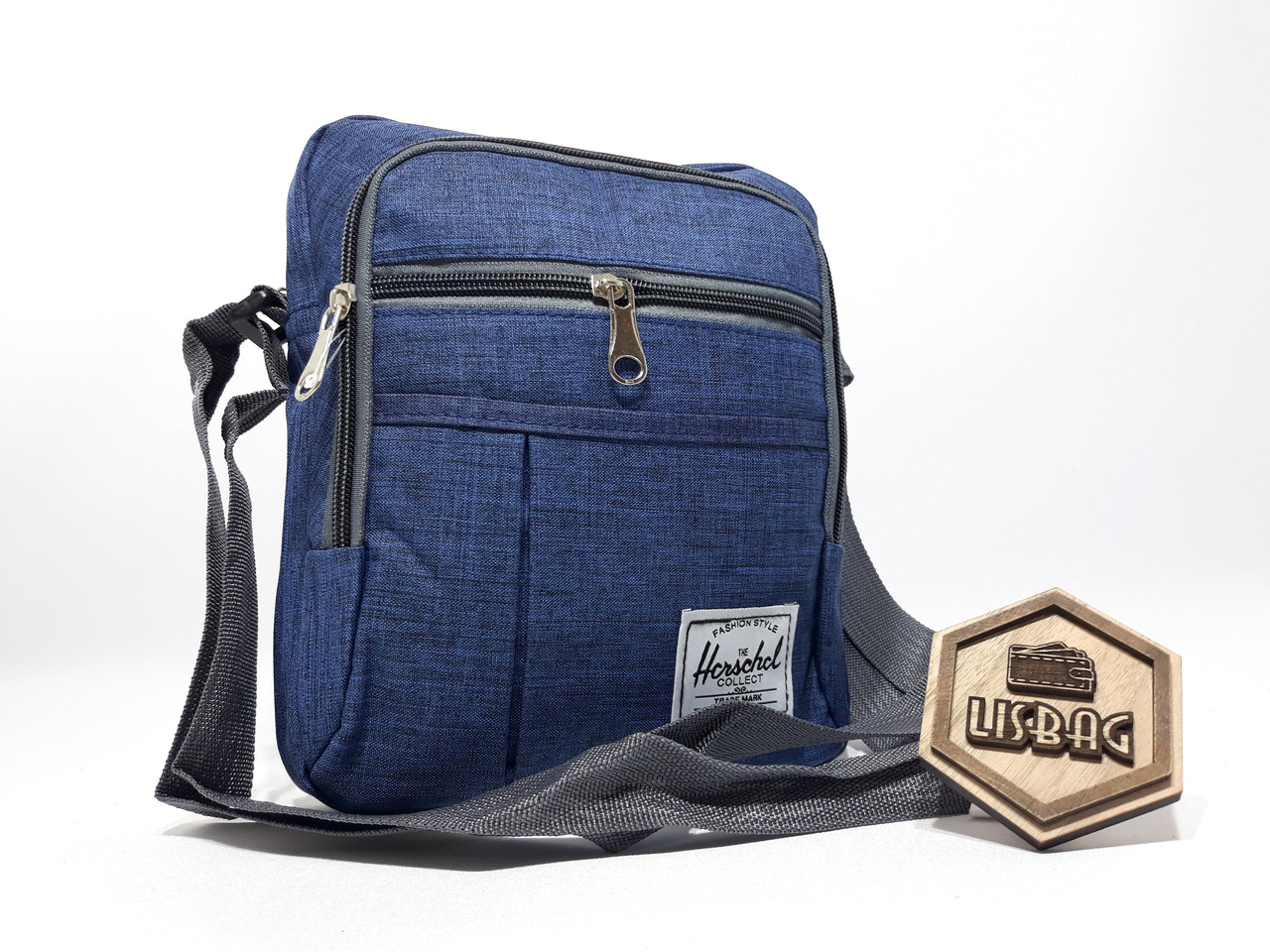 450fc9ce1729 ... Чоловіча Синя сумка планшетка / барсетка середнього розміру спортивного  стилю, ...