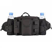 Большая армейская поясная сумка 3 в 1 черная