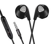 Наушники HF Hoco M2 Black + mic + button call answering + volume control
