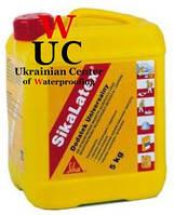 Универсальная добавка для тонкослойных штукатурок и стяжек SikaLatex, 20 кг.