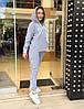 Свободный спортивный костюм женский Турция, серый