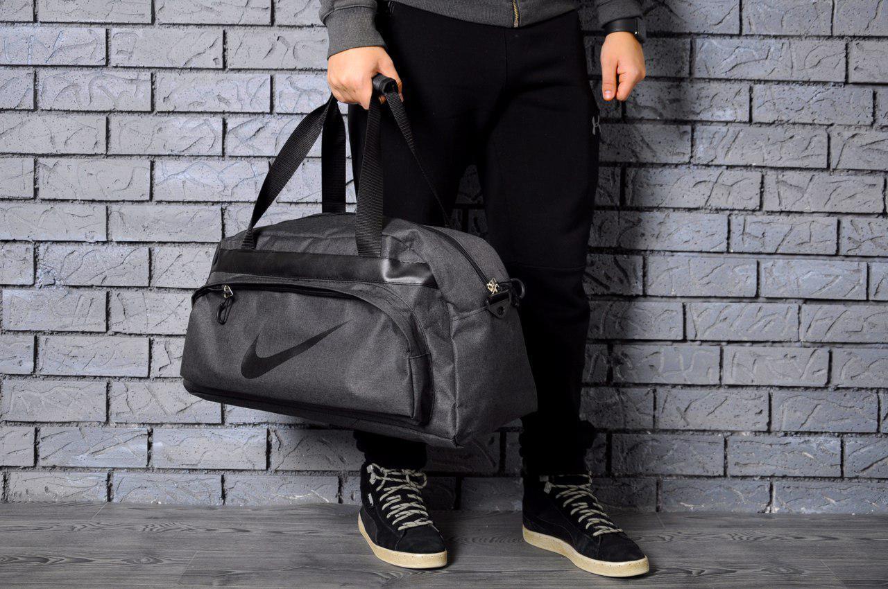 Спортивная сумка в стиле Nike  темно-серая