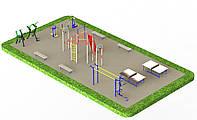 Спортивний майданчик з вуличними тренажерами 1336, фото 1
