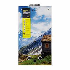 🇺🇦 Колонка газовая дымоходная Thermo Alliance JSD20-10F2 10 л стекло (горы)