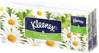 Kleenex. Носовые платочки ароматизированные  с ромашкой, белые, 10*10 (905277)