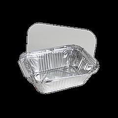 Крышка к прямоугол. алюм. контейнеру 255мл из пластика (SP15L) уп/100 шт