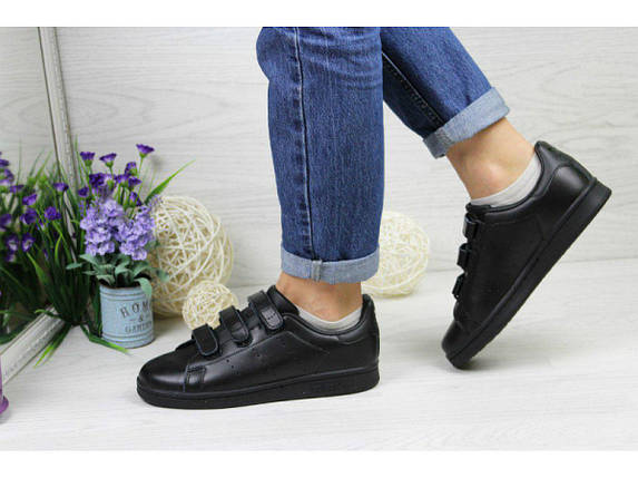 Женские кроссовки Adidas Stan Smith.Липучка, фото 2