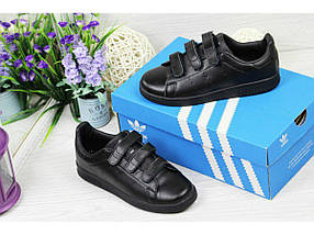 Женские кроссовки Adidas Stan Smith.Липучка, фото 3