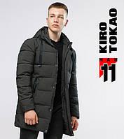Зимняя куртка мужская длинная Kiro Tokao - 6005 зеленый