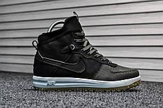 Кроссовки мужские черные Nike Lunar Force 1 (Термо) (реплика)