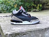 Кроссовки мужские в стиле Nike Air Jordan Retro 3 код товара Z-1541. Черные 285ef5ea2bc