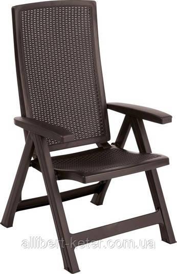 Стілець - крісло Montreal темно-коричневий (Allibert)