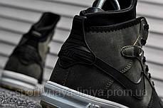 Кроссовки мужские зеленые Nike Lunar Force 1 (Термо) (реплика), фото 2