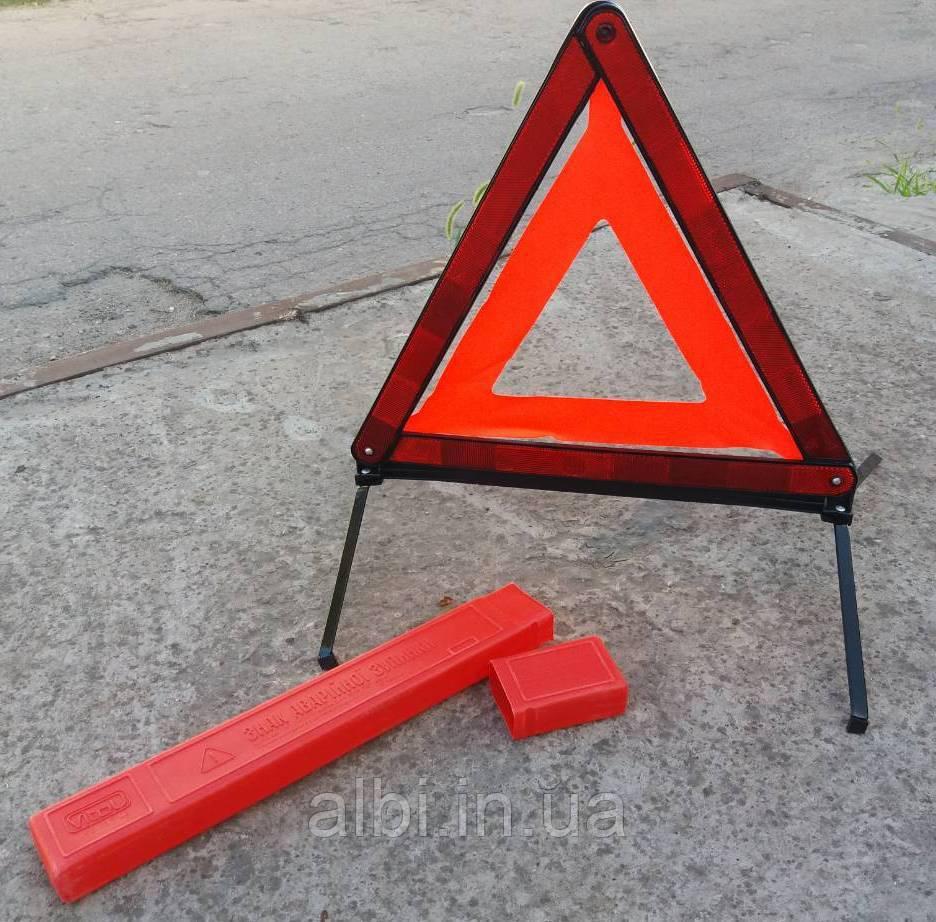 """Дорожный знак """"Аварийная остановка"""" в пластиковой упаковке"""