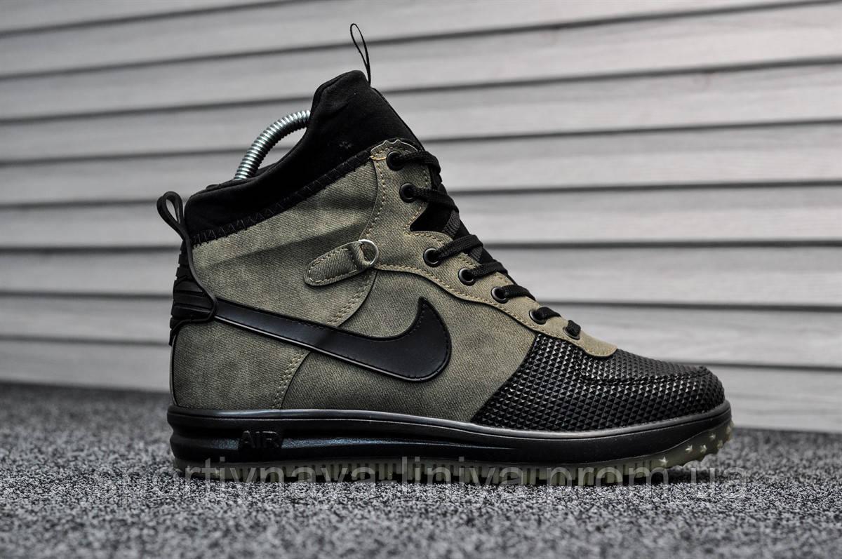 Кроссовки мужские зеленые Nike Lunar Force 1 (Термо) (реплика)
