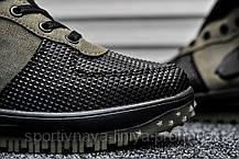 Кроссовки мужские зеленые Nike Lunar Force 1 (Термо) (реплика), фото 3