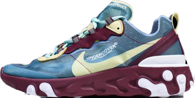 Мужские кроссовки Undercover x Nike React Element 87 (Найк) разноцветные