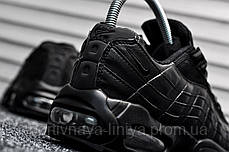 Кроссовки мужские черные Nike Air Max 95 Triple Black (реплика), фото 3