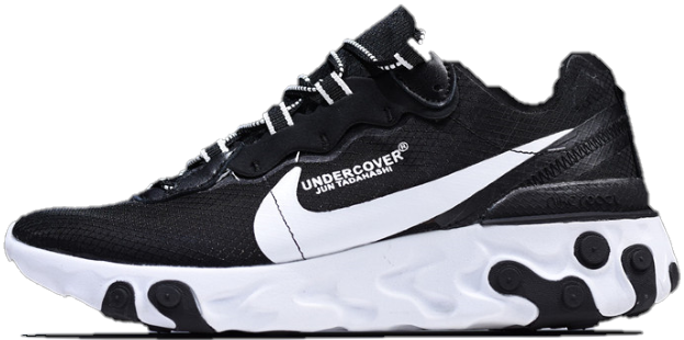 "Мужские кроссовки Undercover x Nike React Element 87""Blakc/White"" (Найк) черные"